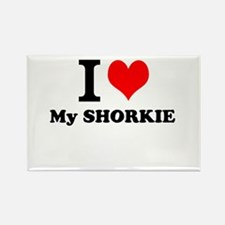 I Love My SHORKIE Magnets