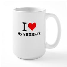 I Love My SHORKIE Mugs