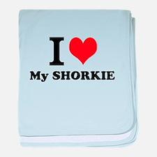 I Love My SHORKIE baby blanket