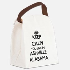 Keep calm you live in Ashville Al Canvas Lunch Bag