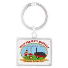 West Texas Pit Masters Landscape Keychain