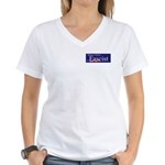 Clinton = Fascist Women's V-Neck T-Shirt