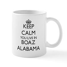 Keep calm you live in Boaz Alabama Mugs