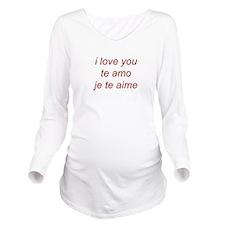 iloveyou Long Sleeve Maternity T-Shirt