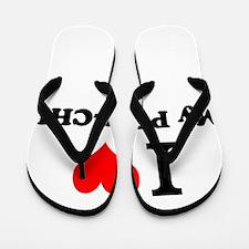 I Love My POM-CHI Flip Flops