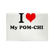I Love My POM-CHI Magnets