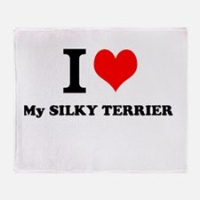 I Love My SILKY TERRIER Throw Blanket