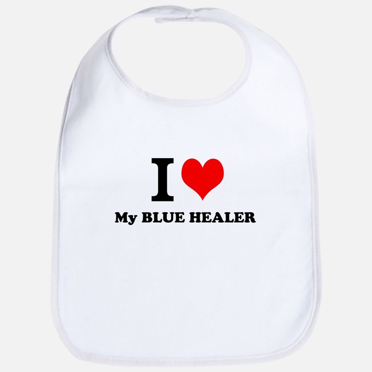 I Love My BLUE HEALER Bib