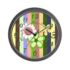 Flower Disguise Wall Clock