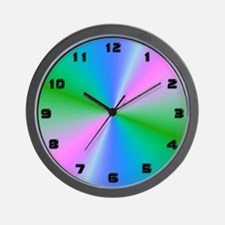 Pastel Rays Timepiece Wall Clock
