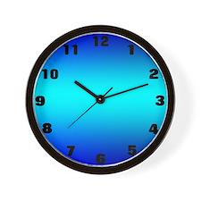 Blue Glow Clock Wall Clock