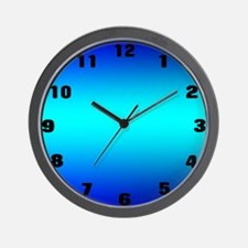 Blue Glow Clock Wall Clock