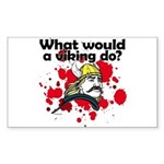 What Would a Viking Do Rectangle Sticker