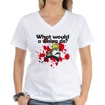 What Would a Viking Do Women's V-Neck T-Shirt