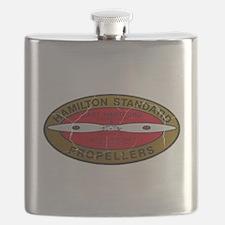 Retro Hamilton Standard Propellers Logo Flask