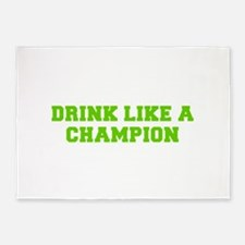 Drink like a champion-Fre l green 5'x7'Area Rug