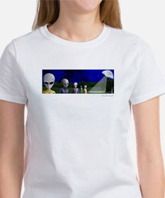 Alien Visit & UFO ~ Women's T-Shirt