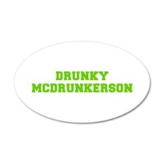 Drunky McDrunkerson-Fre l green Wall Decal