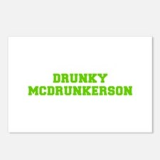 Drunky McDrunkerson-Fre l green Postcards (Package