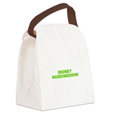 Drunky McDrunkerson-Fre l green Canvas Lunch Bag