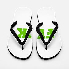 Feck-Fre l green Flip Flops