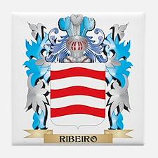 Ribeiro Coat of Arms - Family Crest Tile Coaster