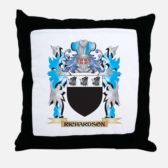 Richardson Coat of Arms - Family Cres Throw Pillow