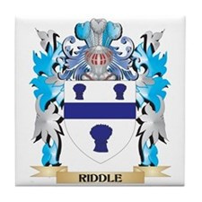 Riddle Coat of Arms - Family Crest Tile Coaster
