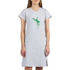 Green Pole Vaulter Silhouette Women's Nightshirt