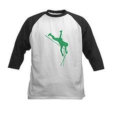 Green Pole Vaulter Silhouette Baseball Jersey