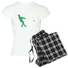 Green Hammer Throw Silhouette Pajamas