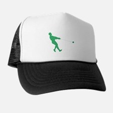 Green Hammer Throw Silhouette Trucker Hat