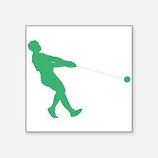 Green Hammer Throw Silhouette Sticker