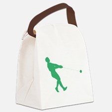 Green Hammer Throw Silhouette Canvas Lunch Bag