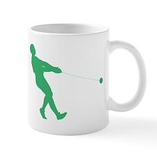 Green Hammer Throw Silhouette Mugs