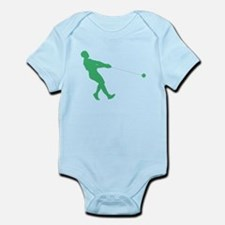 Green Hammer Throw Silhouette Body Suit