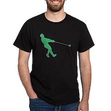 Green Hammer Throw Silhouette T-Shirt