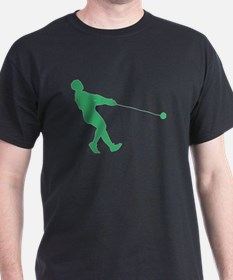 Green Hammer Throw Silhouette T-Shirt