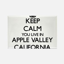 Keep calm you live in Apple Valley Califor Magnets