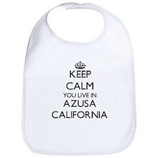 Keep calm you live in Azusa California Bib