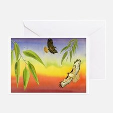 HawkDance Greeting Card