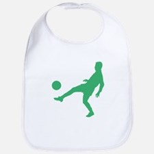 Green Soccer Player Silhouette Bib