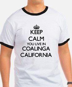 Keep calm you live in Coalinga California T-Shirt