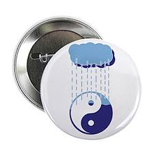 "Rainy Yin Yang 2.25"" Button"