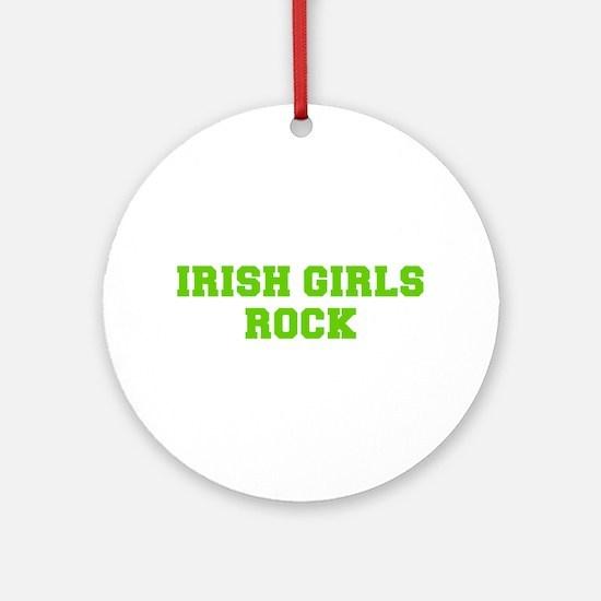 Irish Girls Rock-Fre l green 400 Ornament (Round)