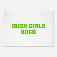Irish Girls Rock-Fre l green 400 5'x7'Area Rug