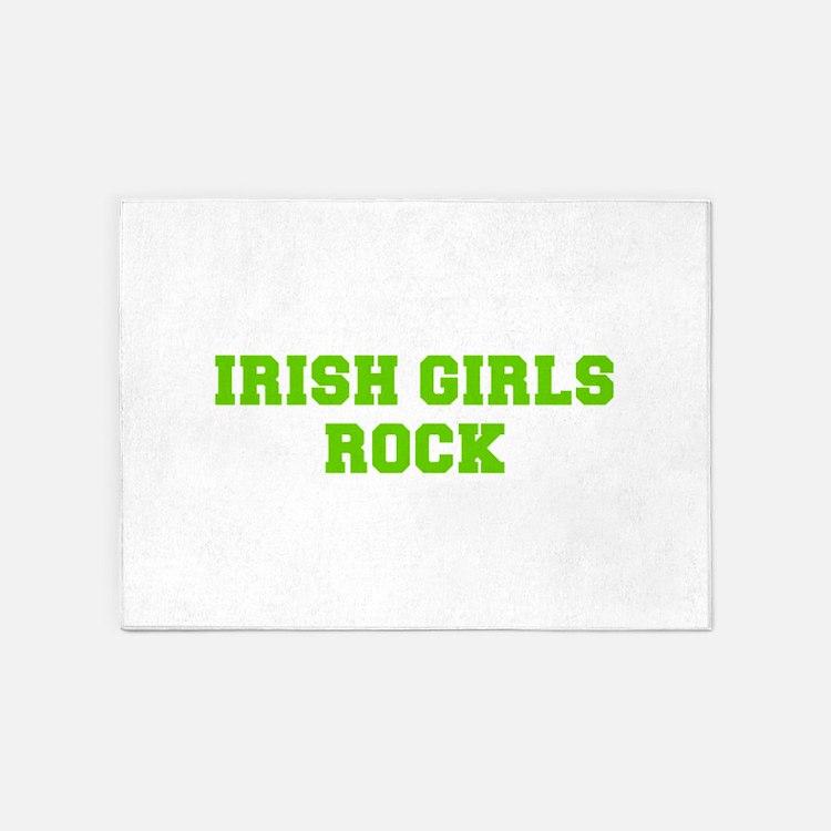 Irish Girls Rock-Fre l green 400 5'x7'Area Rug