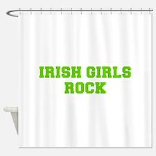 Irish Girls Rock-Fre l green 400 Shower Curtain