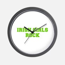 Irish Girls Rock-Fre l green 400 Wall Clock