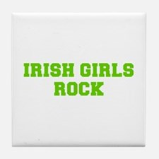 Irish Girls Rock-Fre l green 400 Tile Coaster